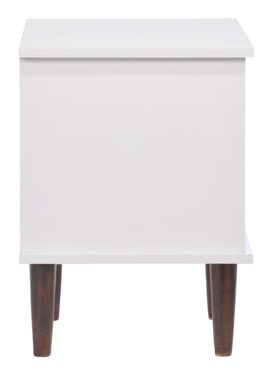 Seaton Night Stand Walnut & White