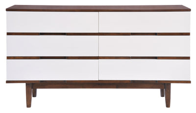 Lan Double Dresser Walnut & White