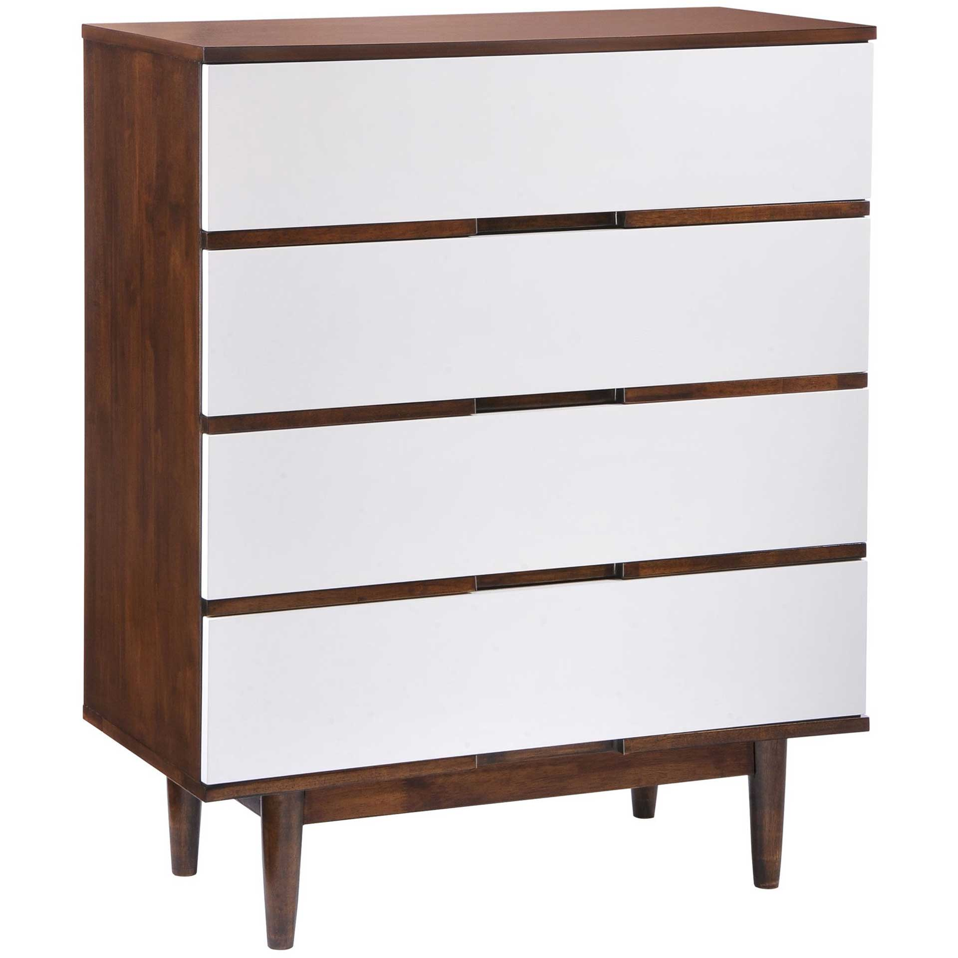 Lan High Chest Walnut & White