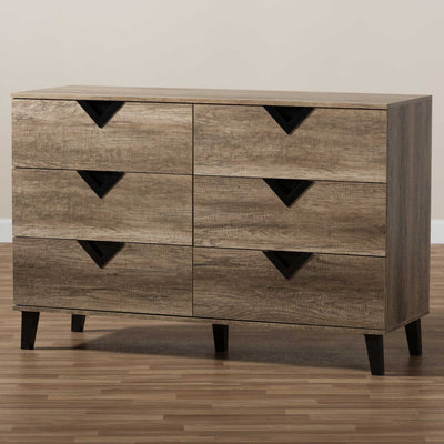 Waverly 6-Drawer Chest Light Brown