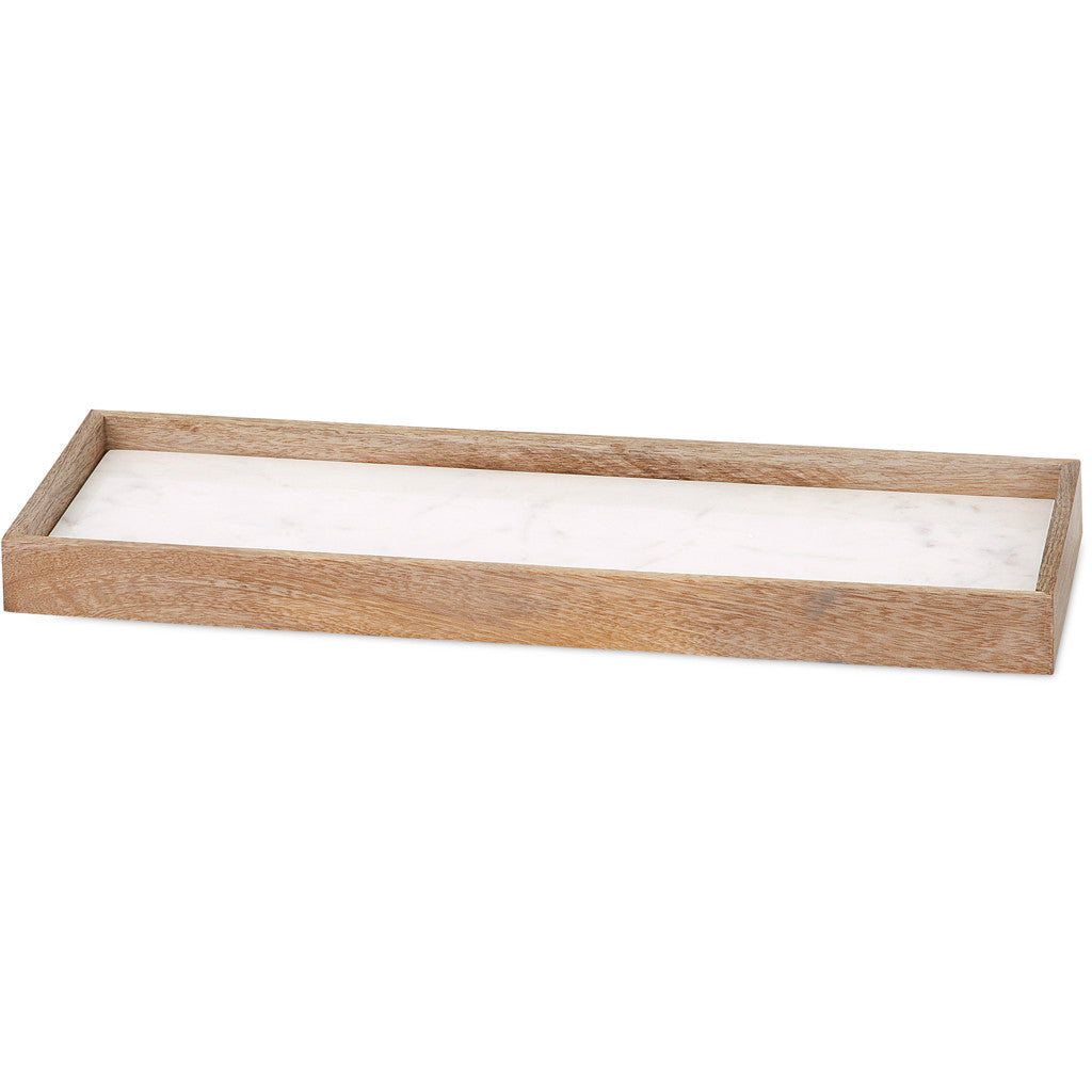 Adair Marble and Wood Cheese Tray