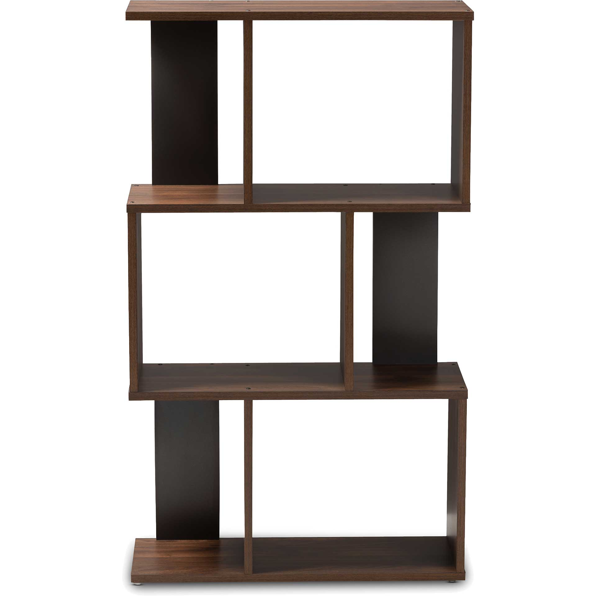 Leala Shelving Unit Walnut/Dark Gray