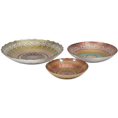 Dixie Glass Bowles (Set of 3)