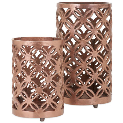 Clark Cutwork Aluminum Lanterns (Set of 2)