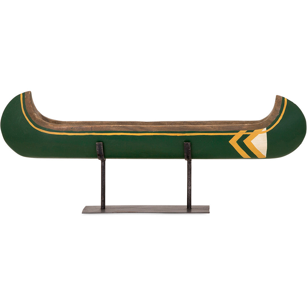 Adams Small Canoe on Metal Stand