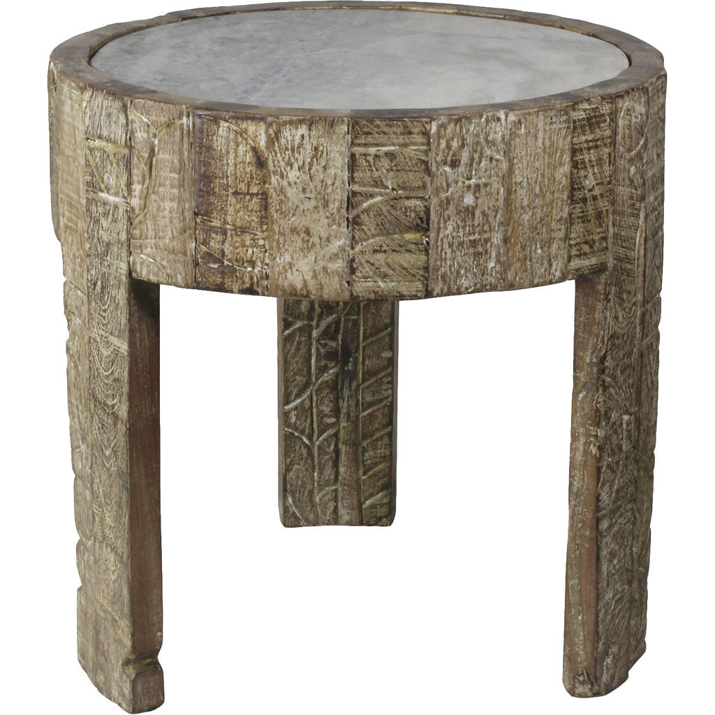 Porter Side Table Marble Top