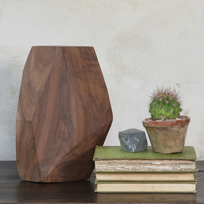 Faceted Wood Object