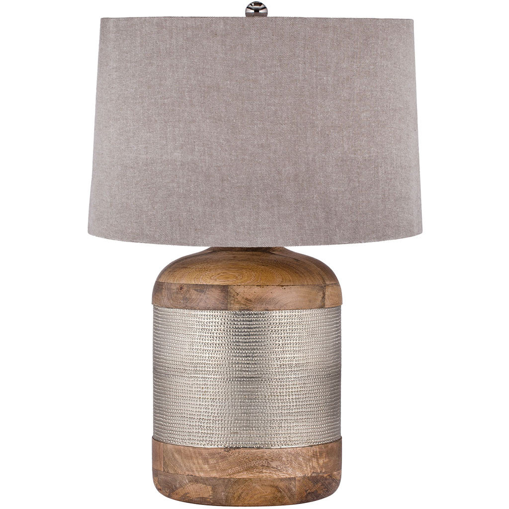 Jonas Argentan Drum Table Lamp