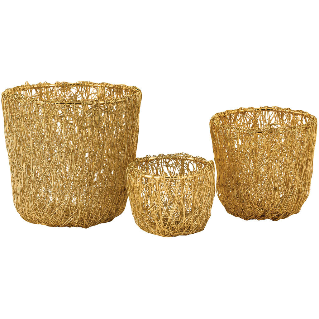 Topeka Free Woven Wire Bowl (Set of 3)