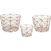 Norway Geometric Copper Baskets (Set of 3)