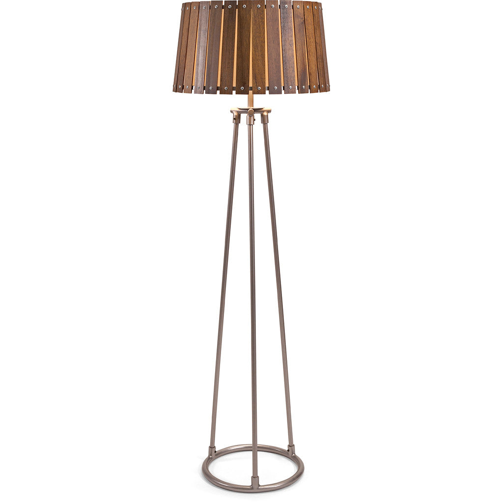 Acacia Wood Shade Floor Lamp