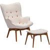 Antares Occasional Chair & Ottoman Cream