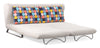 Chester Sofa Sleeper Cement Body & Color Block Back Cushion
