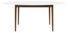 Manitou Oval Dining Table White/Dark Walnut