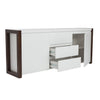 Mason Sideboard White/Dark Walnut