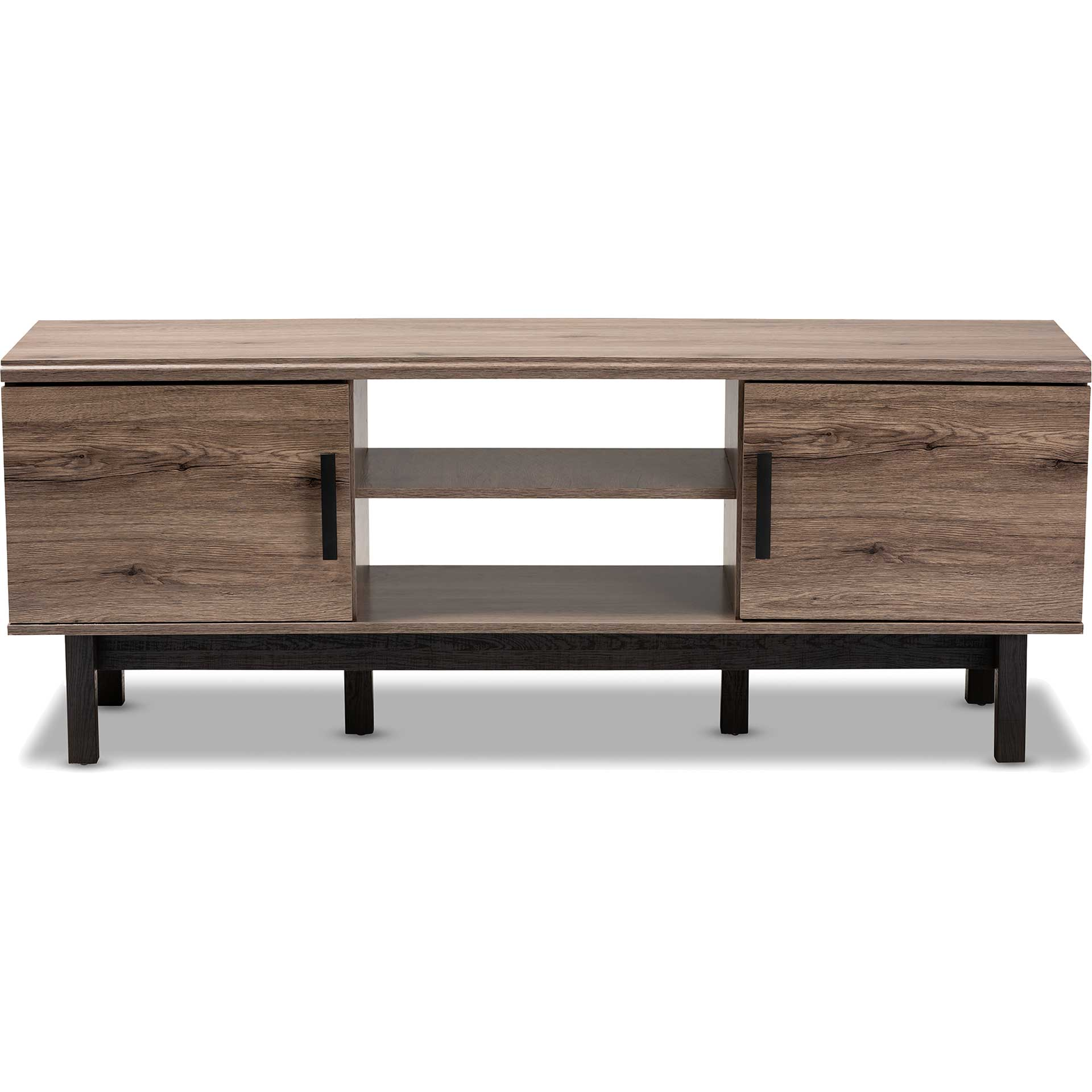 Ariel 2-Door TV Stand Oak/Black