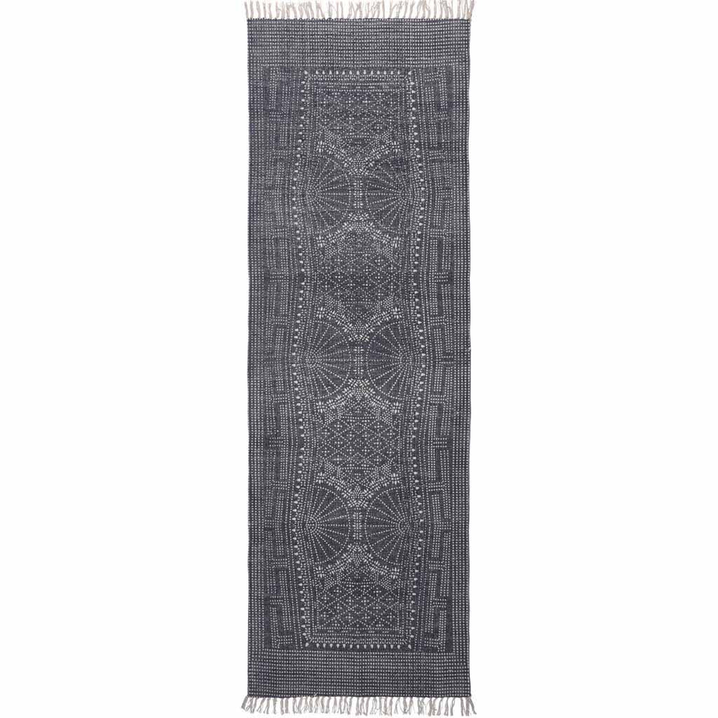 Indigo Batik Cotton Runner Rug