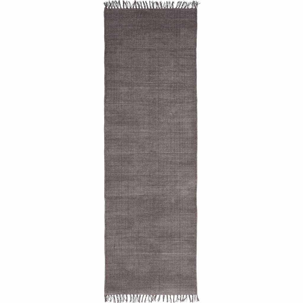 Stonewashed Aubergine Cotton Runner Rug