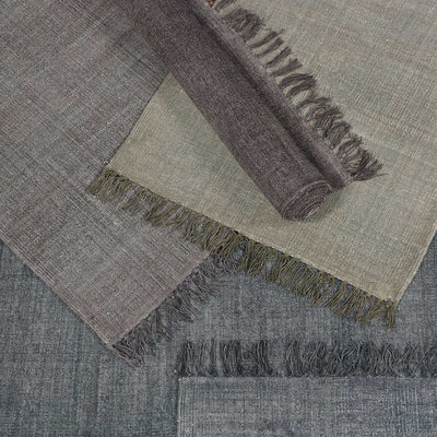 Stonewashed Gray Cotton Area Rug