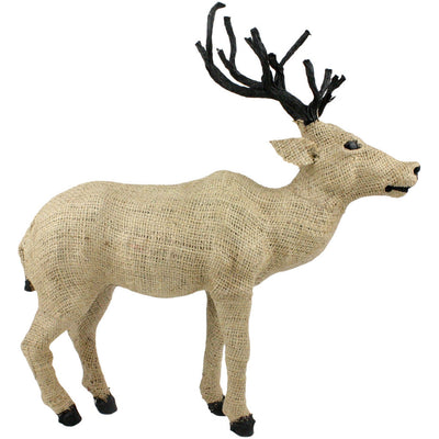 Burlap Small Stag Head Up