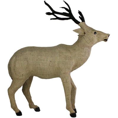Burlap Large Stag Head Up