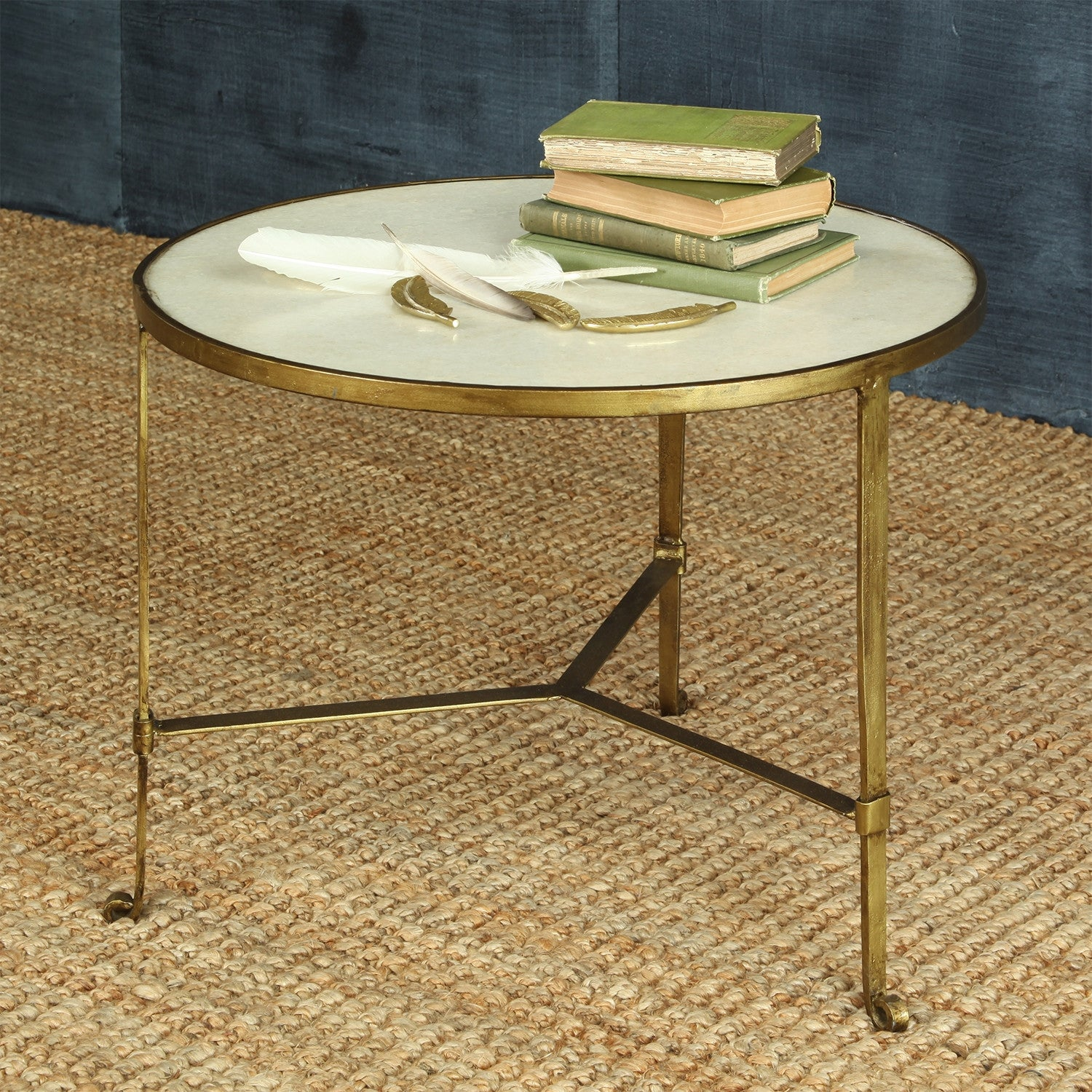 Iron And Stone Coffee Table Seraph Iron Stone Coffee Table Froy