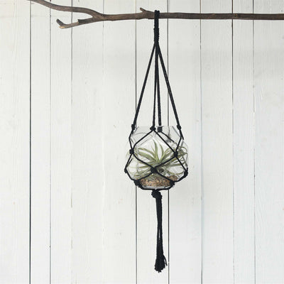 Macrame Hanger Cotton Black