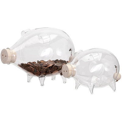 Fayette Glass Piggy Bank (Set of 2)