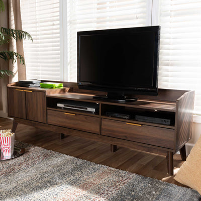 Leara 2-Drawer TV Stand Walnut