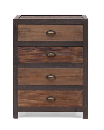 Franklin 4 Drawer Cabinet Distressed Natural