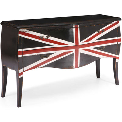 UK Large Cabinet Distressed Black