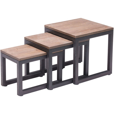 Cambridge Nesting Tables Distressed Natural