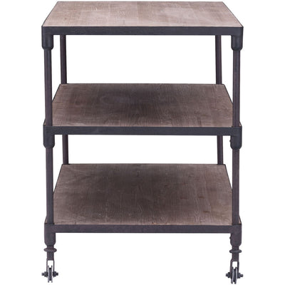 Mansfield Wide 3 level Shelf Distressed Natural