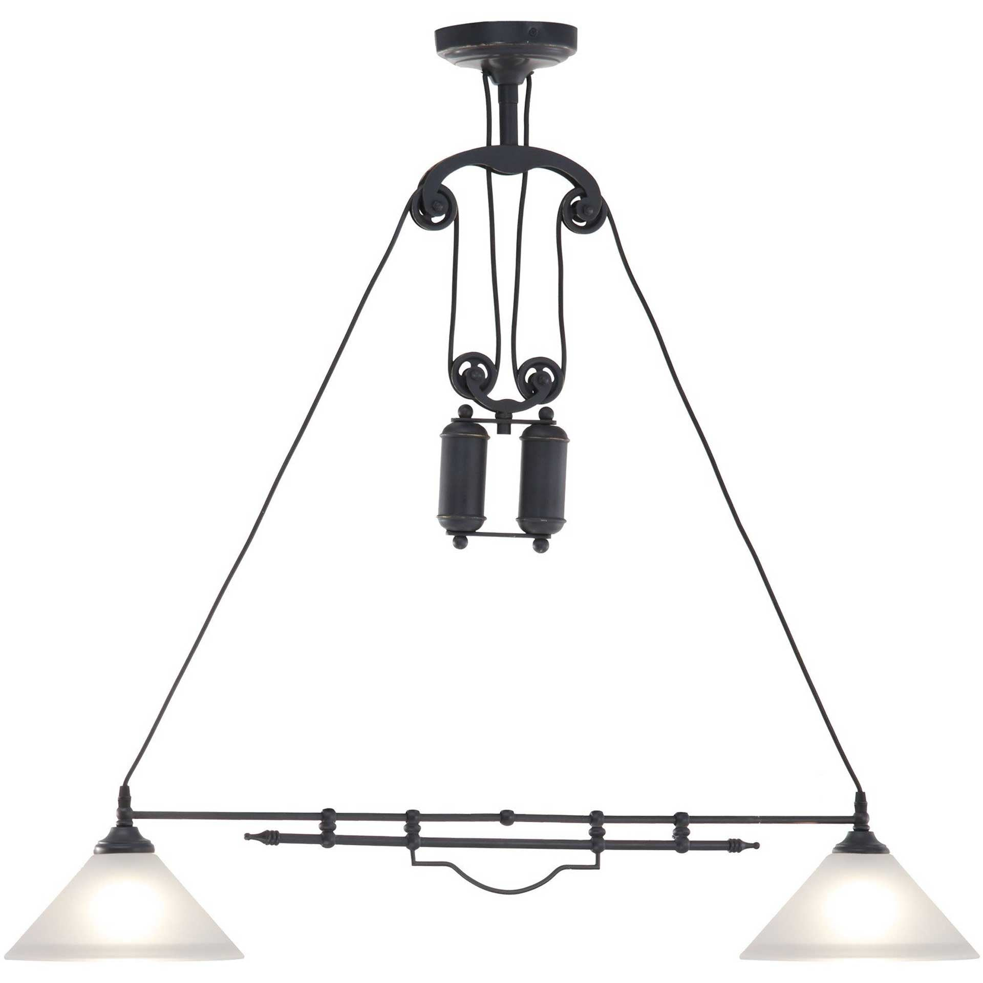 Aalburg Ceiling Lamp Antique Black Gold