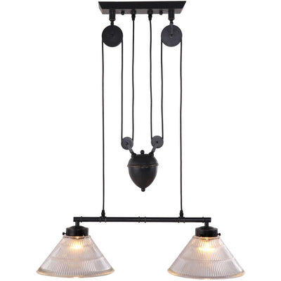Geldrop Ceiling Lamp Antique Black Gold