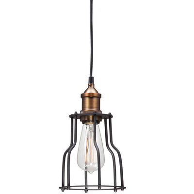 Apache Ceiling Lamp Black & Copper