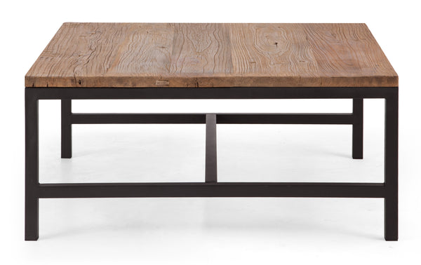 Gardner Square Coffee Table Distressed Natural Froy