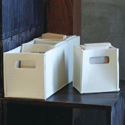 Olt Felt Rectangle Tote Cream (Set of 4)