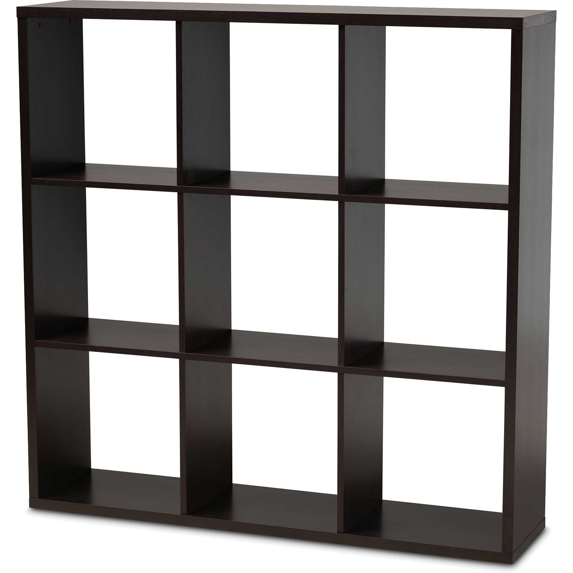 James 9-Cube Shelving Unit Dark Brown