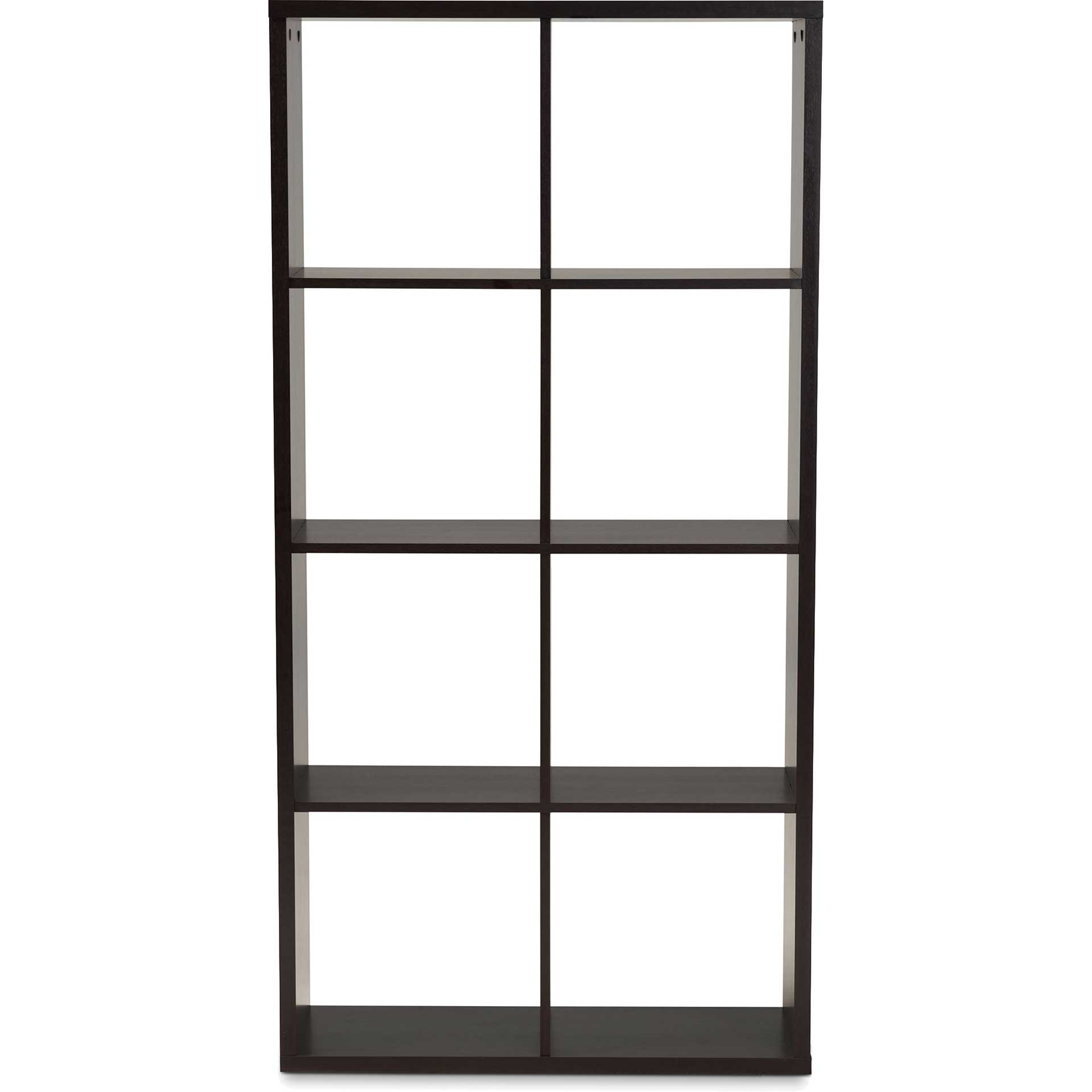 James 8-Cube Shelving Unit Dark Brown