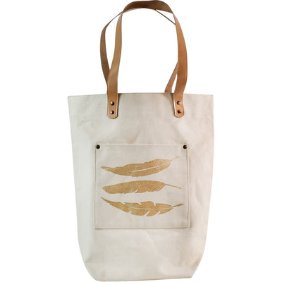 Bohemian Tote Feathers