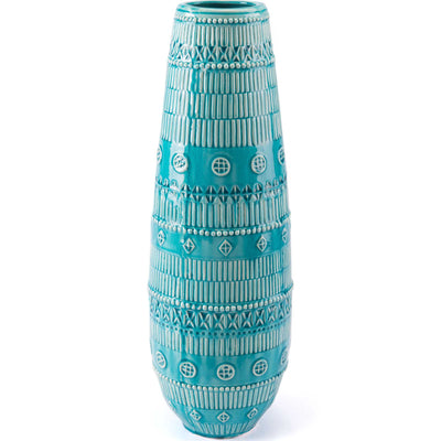 Tribal Vase Blue