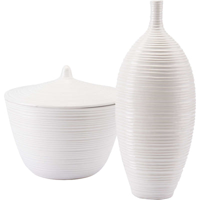Hat Jar/Vase White
