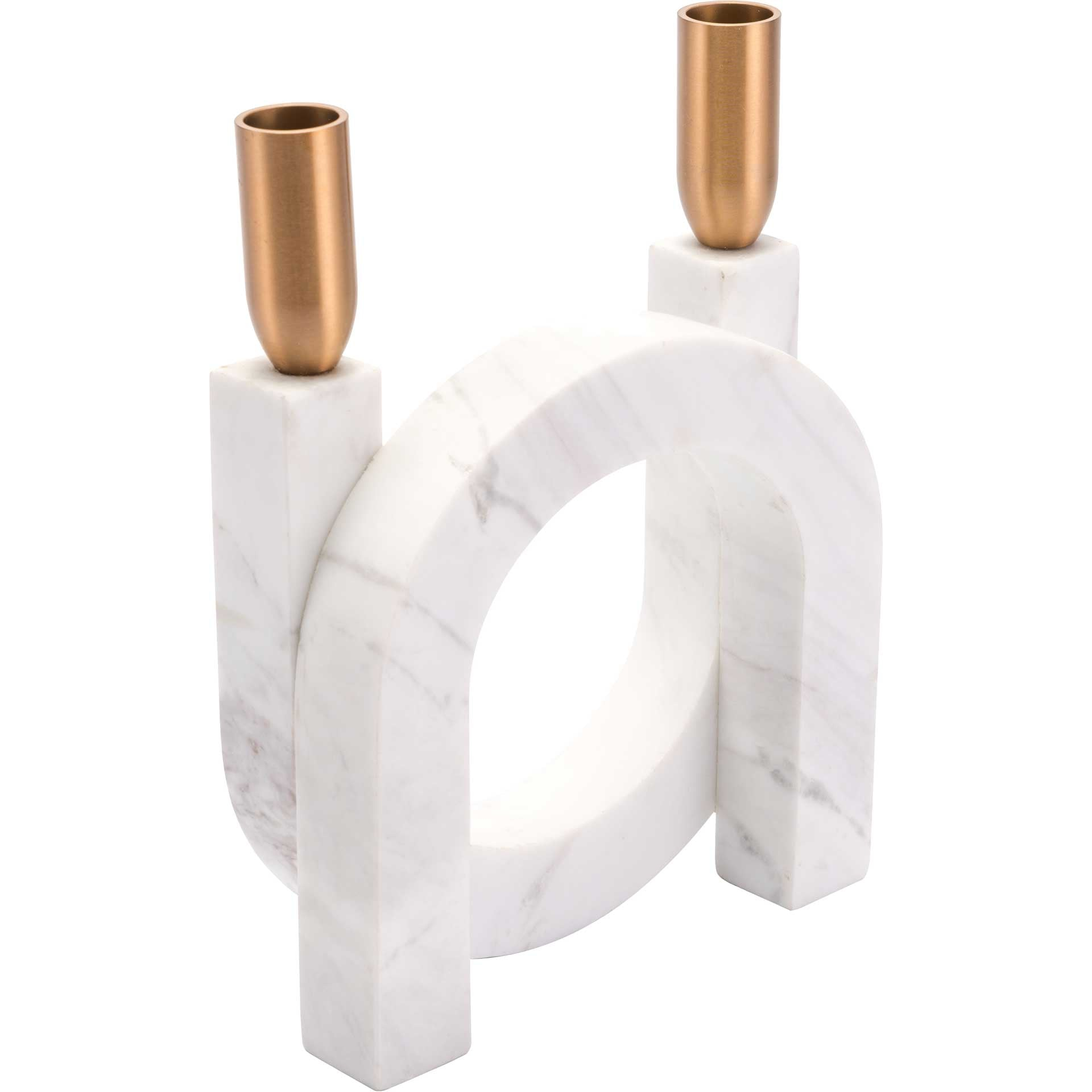 Horseshoe Candle Holder Matte White