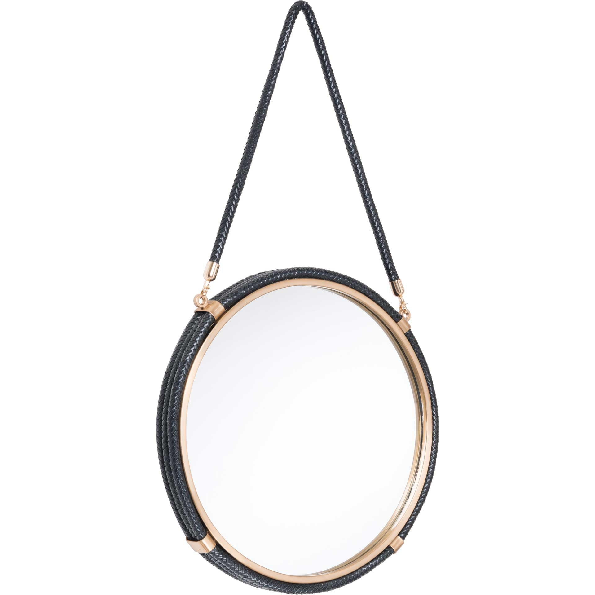 Coastal Round Mirror Black