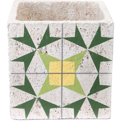 Cement Arrow Planter Green/Yellow