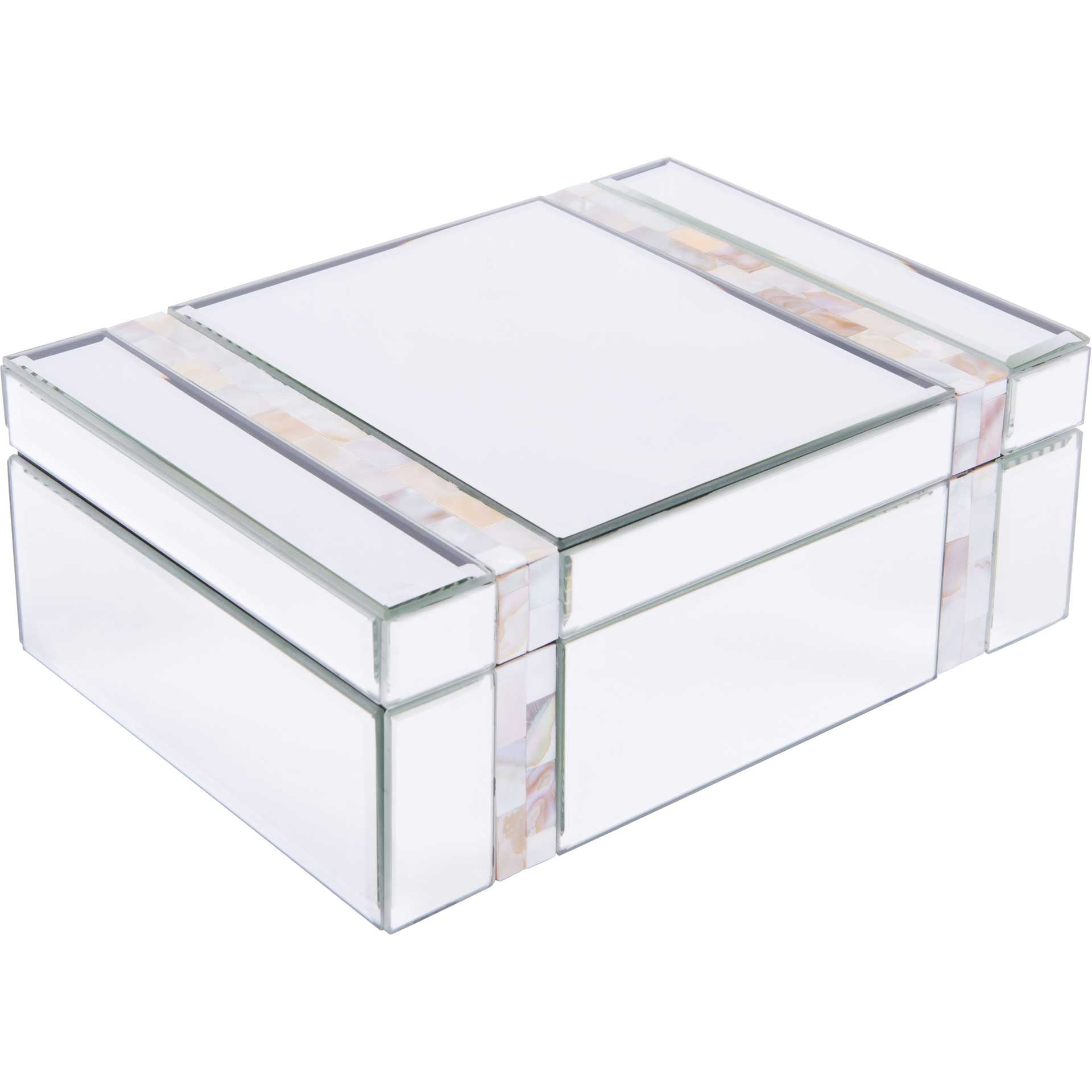 Mother of Pearl Stripes Mirror Box