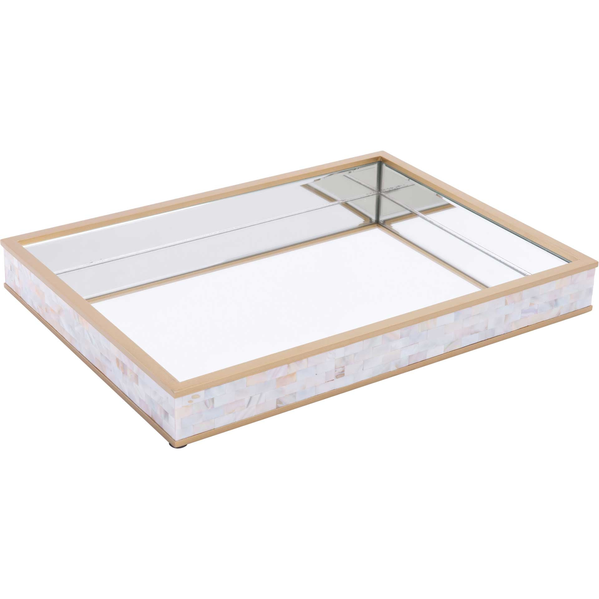 Mother of Pearl Mirror Tray