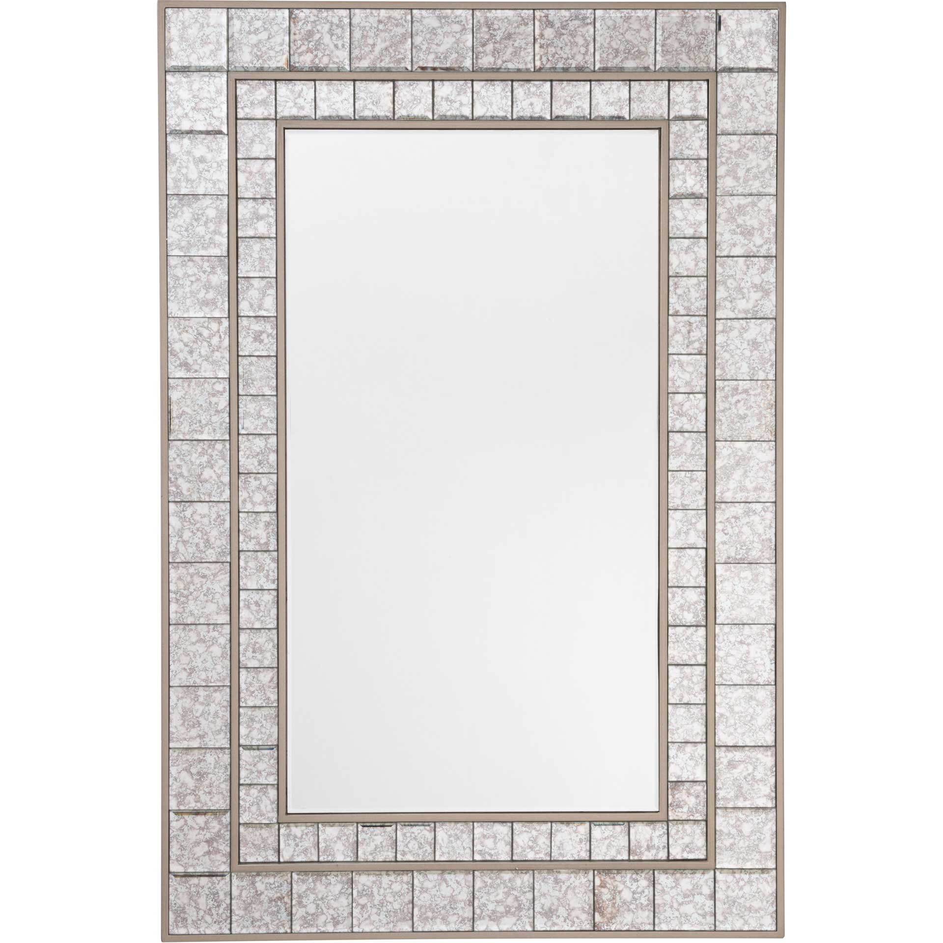 Antique Squares Mirror