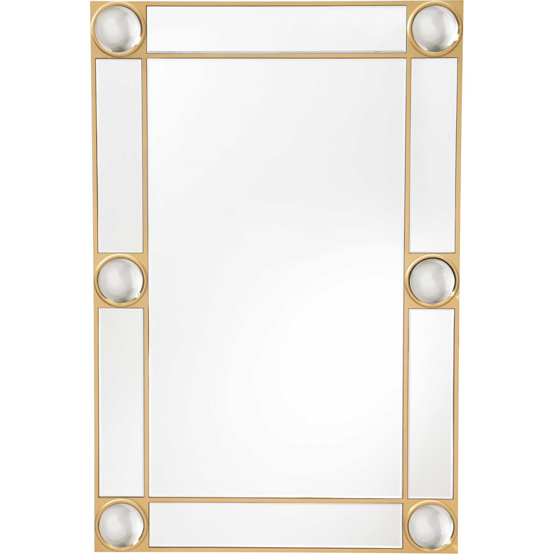 Lucite Orbs Rectangular Mirror